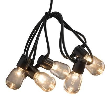 Konstsmide LED Partysnoer Transparant Amber 9.75m/40 lampjes
