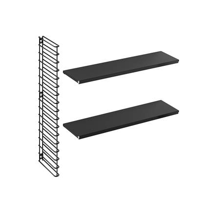 Tomado boekenrekuitbreiding zwarte frame en planken