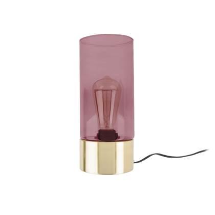 Leitmotiv LAX Tafellamp Glas 24,5 x Ø12 cm Roze