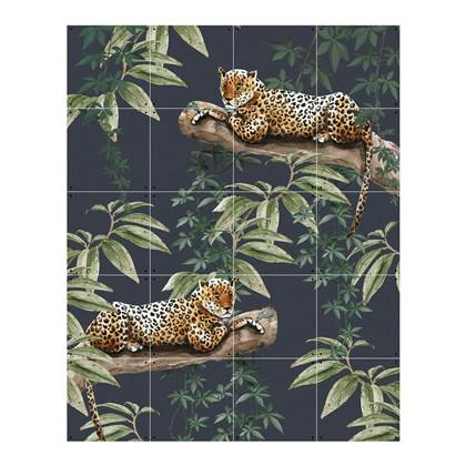 IXXI Chilling In The Jungle & Into The Wild Wandsysteem 100 x 80 cm