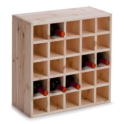 Zeller Vierkant Wijnrek 25 Flessen