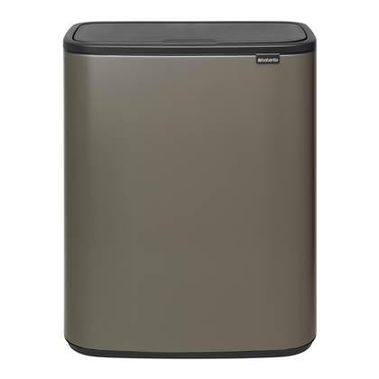Brabantia Bo Touch bin 2x30 liter Platinum