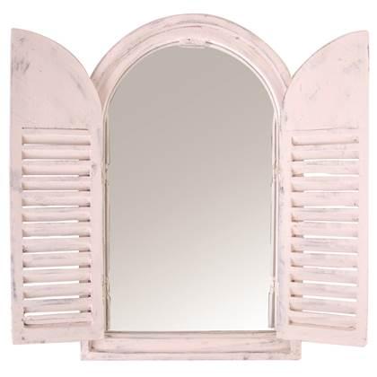 Esschert Design Spiegelkozijn met houten deurtjes
