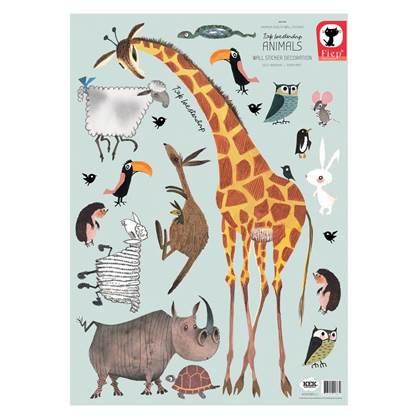 KEK Amsterdam Fiep Westendorp Muursticker Set Dieren - Giraffe