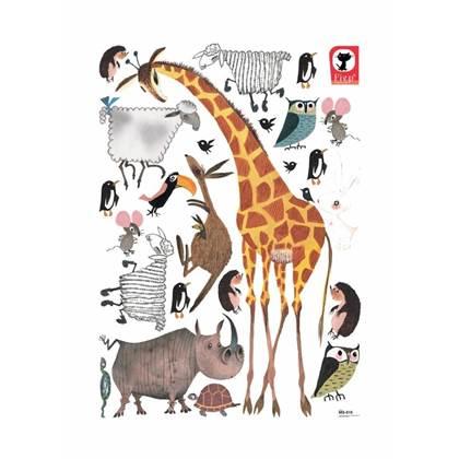 KEK Amsterdam Fiep Westendorp Muursticker Dieren XL - Giraffe
