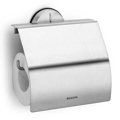 Brabantia RVS Toiletrolhouder met klep mat
