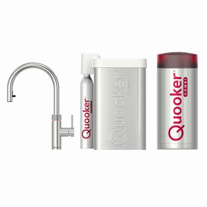 Quooker Flex RVS met COMBI boiler en CUBE reservoir 5-in-1 kraan