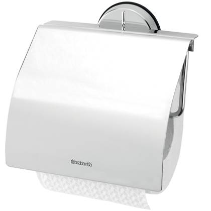 Brabantia Toiletrolhouder met Klep Brilliant Steel