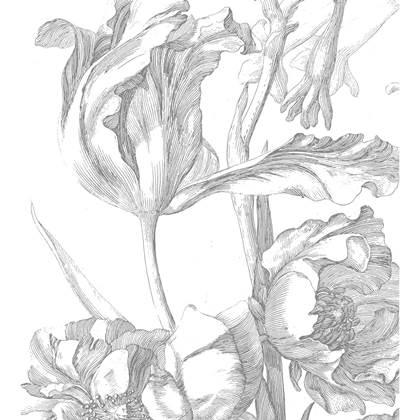 KEK Amsterdam Engraved Flowers Vliesbehang
