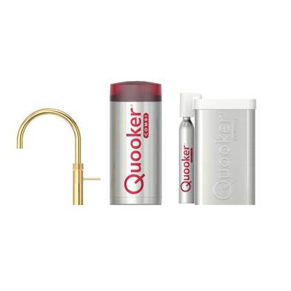 Quooker CUBE COMBI+ Fusion Round Goud Kokendwaterkraan