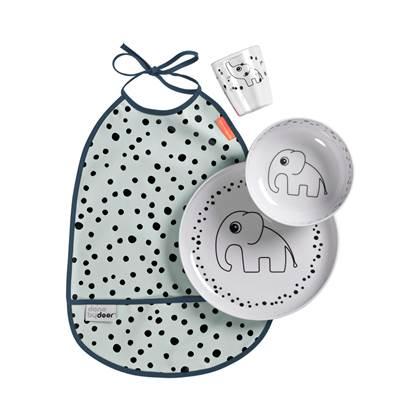 Done by Deer Happy Dots Kinder Eetset 4-delig - Blauw