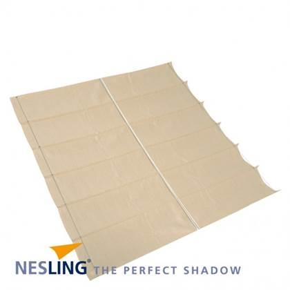 Nesling Coolfit Harmonica Schaduwdoek gebroken wit 2,9 x 4