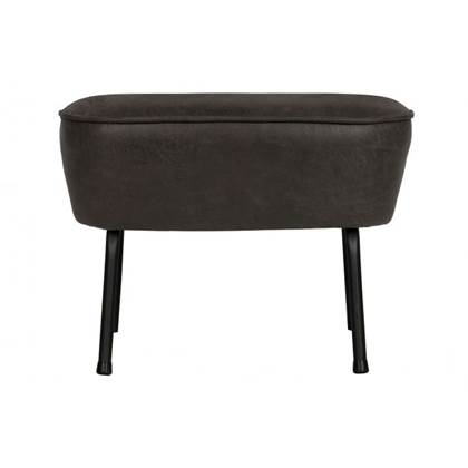 BePureHome Vogue hocker leer zwart