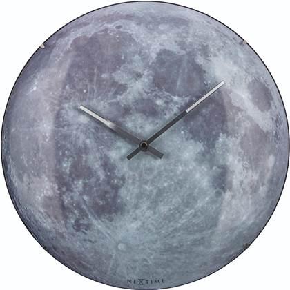 NeXtime Moon Dome Wandklok à 35 cm