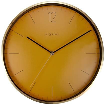 NeXtime Essential Gele Wandklok à 34 cm