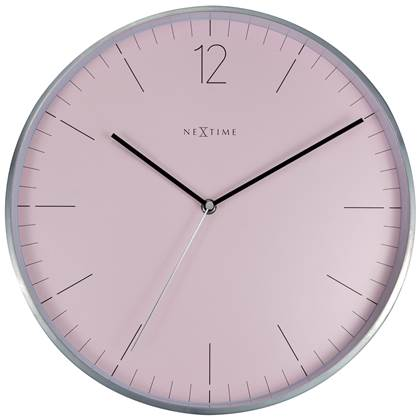 NeXtime Essential Roze Wandklok à 34 cm