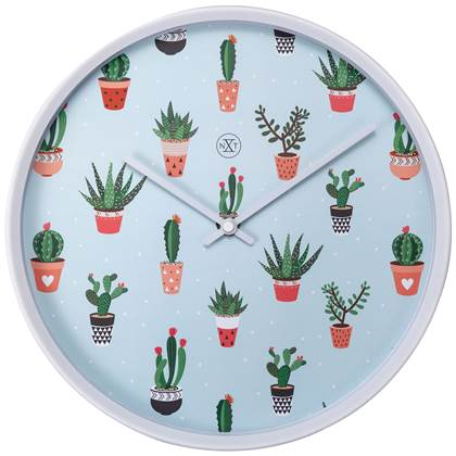 NeXtime Cactus Wandklok à 30 cm