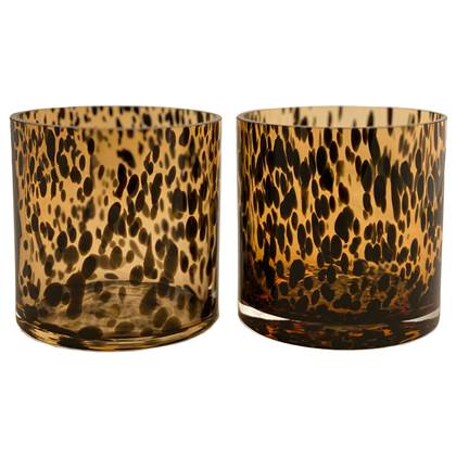 Vase the World Celtic Cheetah Waxinelichthouder 2 st