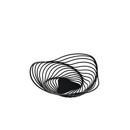 ALESSI Trinity Fruitschaal 26 cm zwart