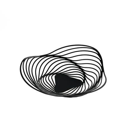 ALESSI Trinity Fruitschaal 33 cm zwart