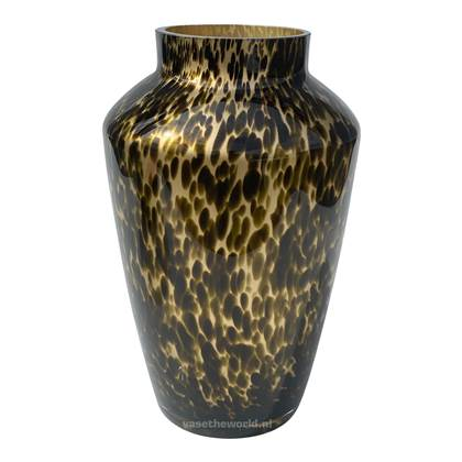 Vase the World Hudson Gold Cheetah Vaas