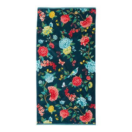 Pip Studio Good Evening Badhanddoek 70 x 140 cm Donkerblauw online kopen