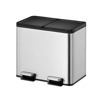EKO Essential Recycler Pedaalemmer 20 Liter (10+10L) - RVS