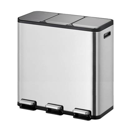 EKO EcoCasa II Recycler Pedaalemmer 45 Liter (3x15L) - RVS