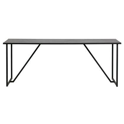 Eetkamertafel Julius zwart 200x85 cm Leen Bakker