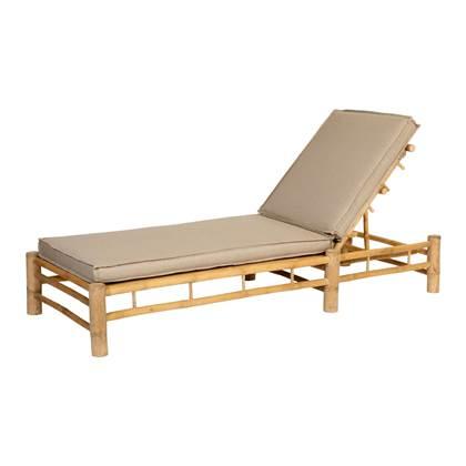 Exotan Bamboo Sunlounger Outdoor Ligbed Bamboe Frame Taupe Spunpoly Kussens online kopen