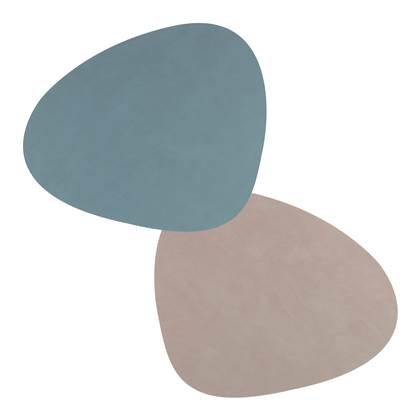 LIND DNA Nupo Double Curve Placemat Dubbelzijdig 1 st. army green/nature online kopen