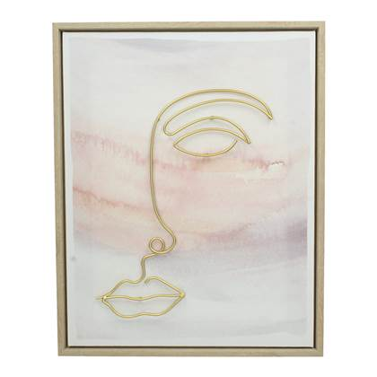 Vestbjerg Asa Canvas Schilderij 40 x 4 x 50 cm