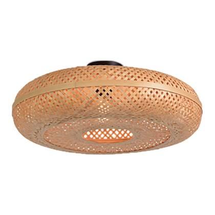 vidaXL Plafondlamp met 4 spotlights E14 zilver Plafondlampen afbeelding