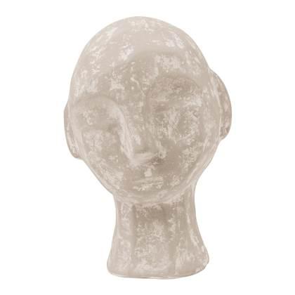 Vtwonen Ecomix Kalksteen Hoofd Sculptuur Klein Zandkleurig online kopen