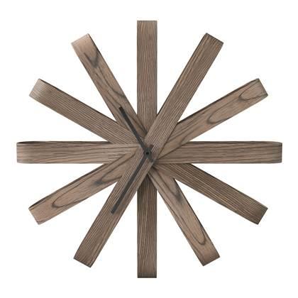 Umbra Klok Wandklok Ribbonwood hout online kopen