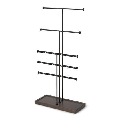 Umbra Trigem Sieradenhouder H 47 cm - Zwart/Walnoot