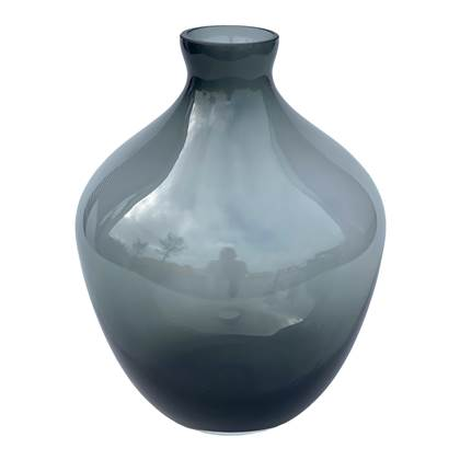 Vase The World Traun grey Ø23,5 x H30 cm online kopen