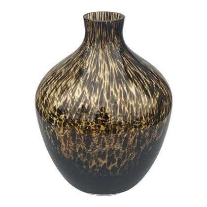 Vase The World Traun brown cheetah Ø23,5 x H30 cm online kopen