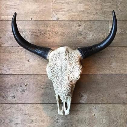 Skull Decoratie Buffelschedel Skull Skull Dierenhoofd Buffel Kopen Shop Bij Fonq
