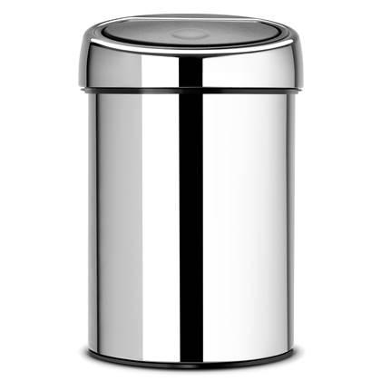 Brabantia Touch Bin Wandafvalemmer 3 Liter Glans
