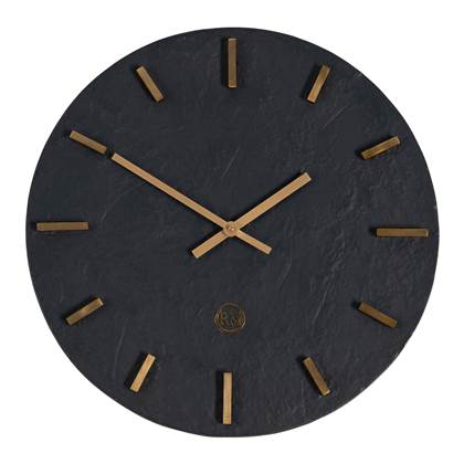 Riviera Maison Harlem Wall Clock Wandklok Black 41.0 x 41.0 online kopen