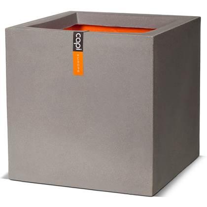 Pot vierkant III 40x40x40 grijs Capi Tutch