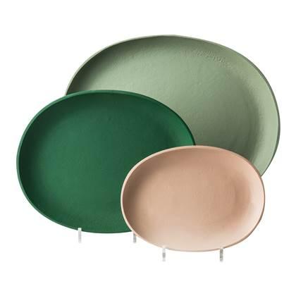 Pols Potten Tray Dienbladen Green - Set van 3
