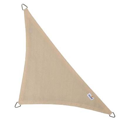 Coolfit schaduwdoek driehoek 90 graden gebroken wit 4.0 x 4.0 x 5.7 meter