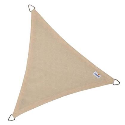 Coolfit schaduwdoek driehoek gebroken wit 5.0 x 5.0 x 5.0 meter