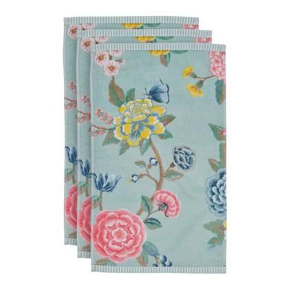 Pip Studio Good Evening Gastendoek 30 x 50 cm Blauw Set van 3 online kopen
