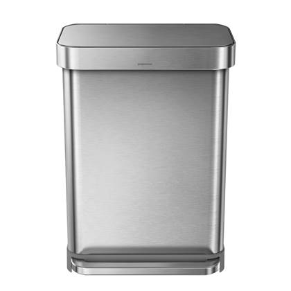 Simplehuman Rectangular Liner Pocket Pedaalemmer 55 Liter