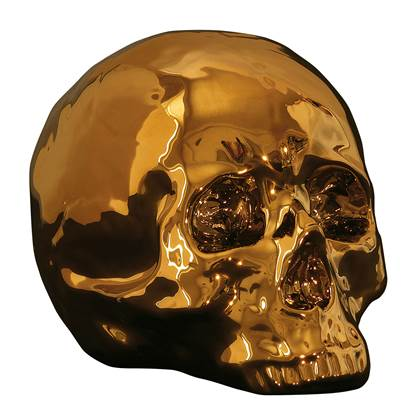 Seletti My Skull Decoratief object/Schedel Goudkleurig online kopen