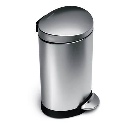 Simplehuman Semi Round Pedaalemmer 6 Liter