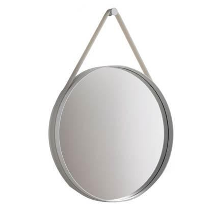 Hay Strap Spiegel Ø 50 cm Grijs